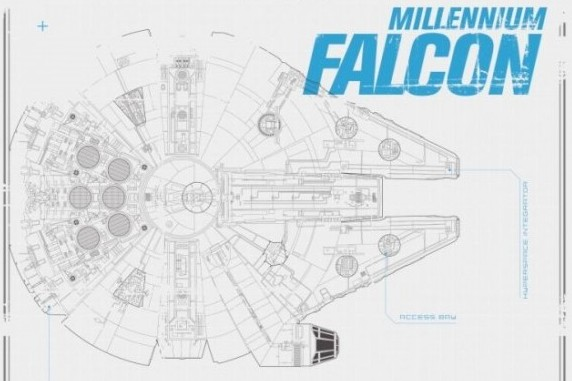 STAR WARS: THE FORCE AWAKENS Vehicle Schematics For the Millennium on tie phantom, y-wing schematic, tie advanced,