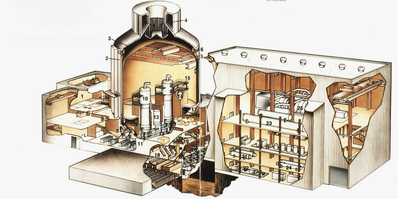 Advanced pressurized water reactor nuclear power plant general layout