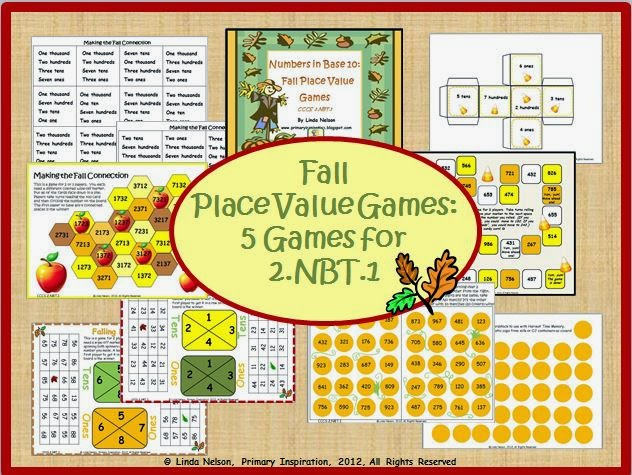 http://www.teacherspayteachers.com/Product/Numbers-in-Base-Ten-Fall-Place-Value-Games-332666