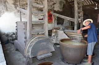 Sanbaijiu or sanbai wine factory in Wuzhen, Zhejiang, China