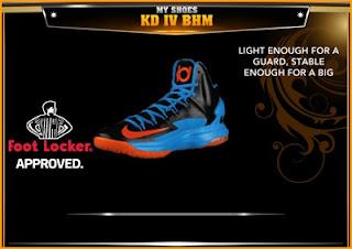 NBA 2K13 Shoes Nike KD V Away