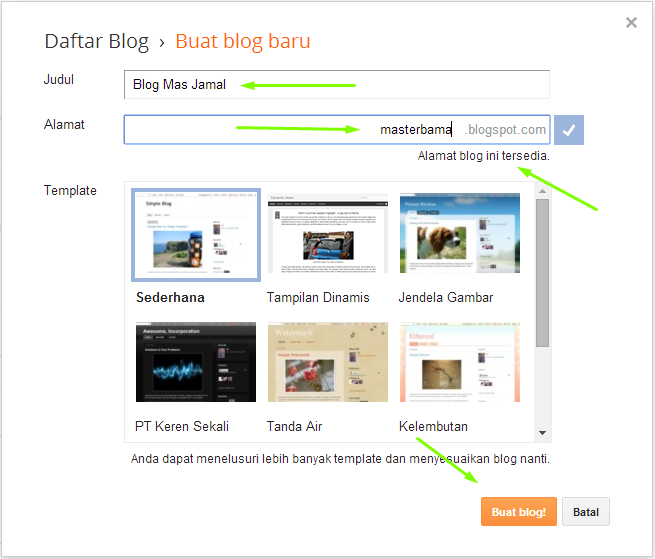 Cara Membuat Blog (Blogspot.com)