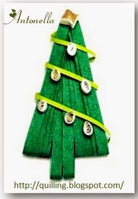 Lovely Spreuer Quilled Christmas Tree from Antonella at www.quilling.blogspot.com  #Quilled #Quilling #Spreuer #Christmas