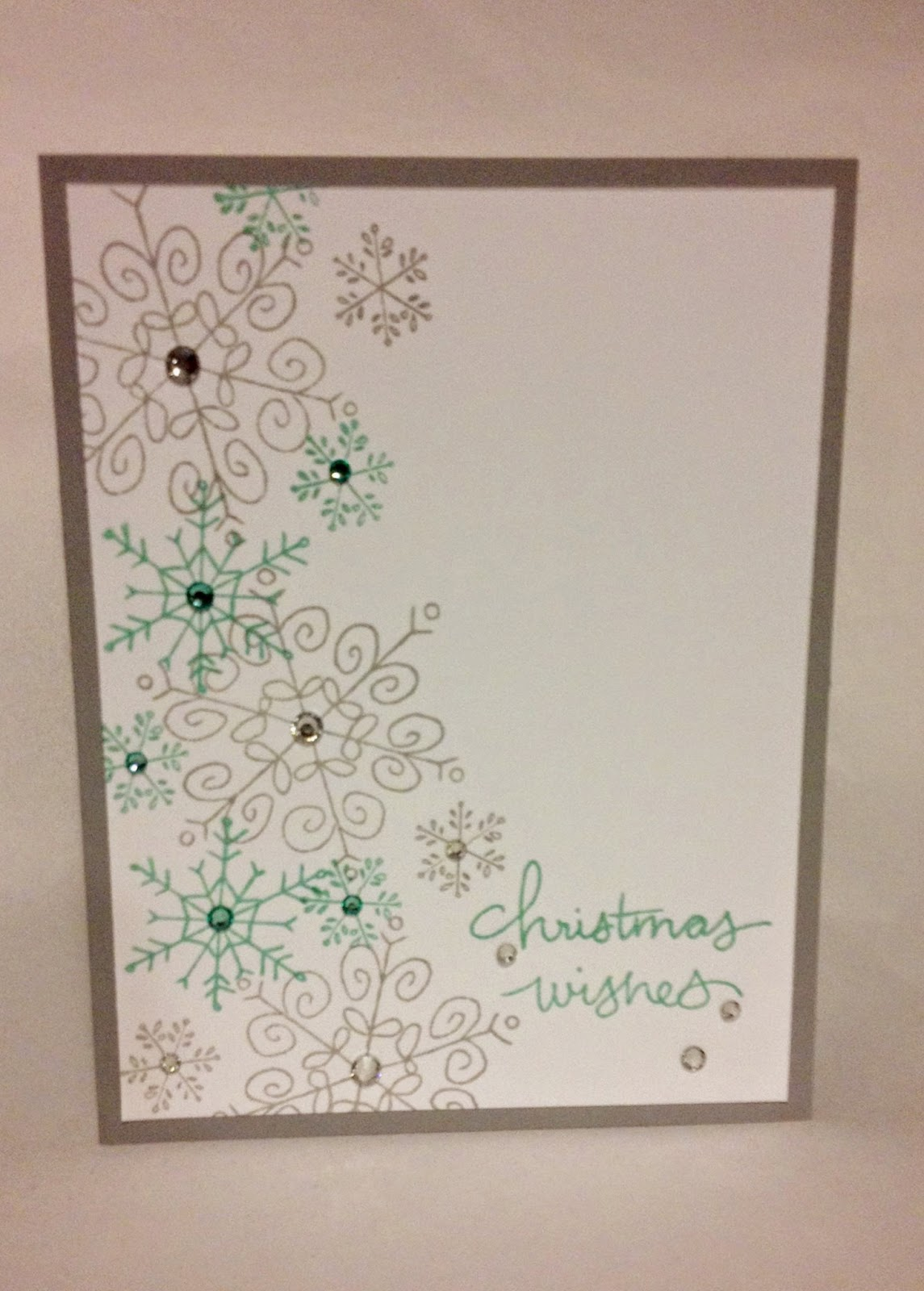 Endless Wishes Midnight Crafter Stampin Up snowflake