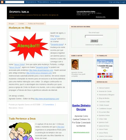 Visite Blog Desperta Igreja