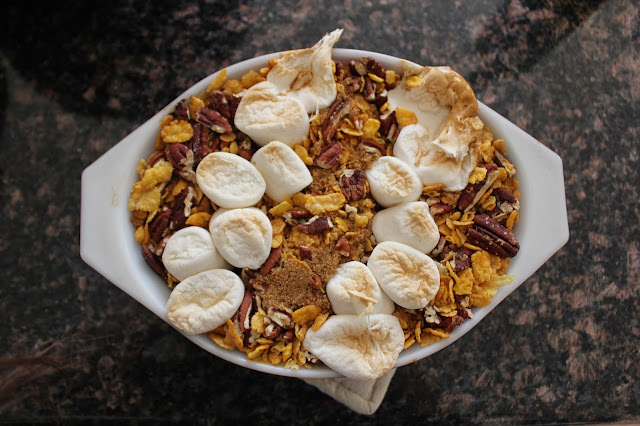 http://www.myrecipes.com/recipe/cornflake-sweet-potato-casserole-50400000107597/