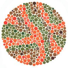 Prueba de daltonismo - Carta de Ishihara 21