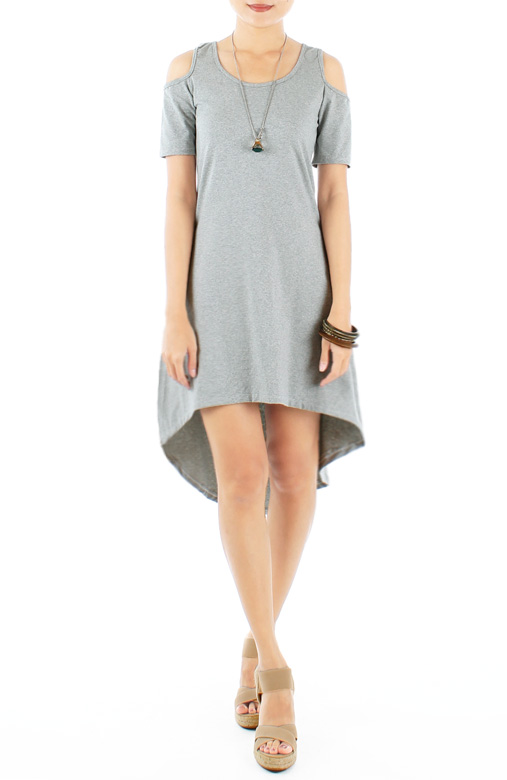 Lounge Dip Back Cut-out Dress with Sleeves in Macrame