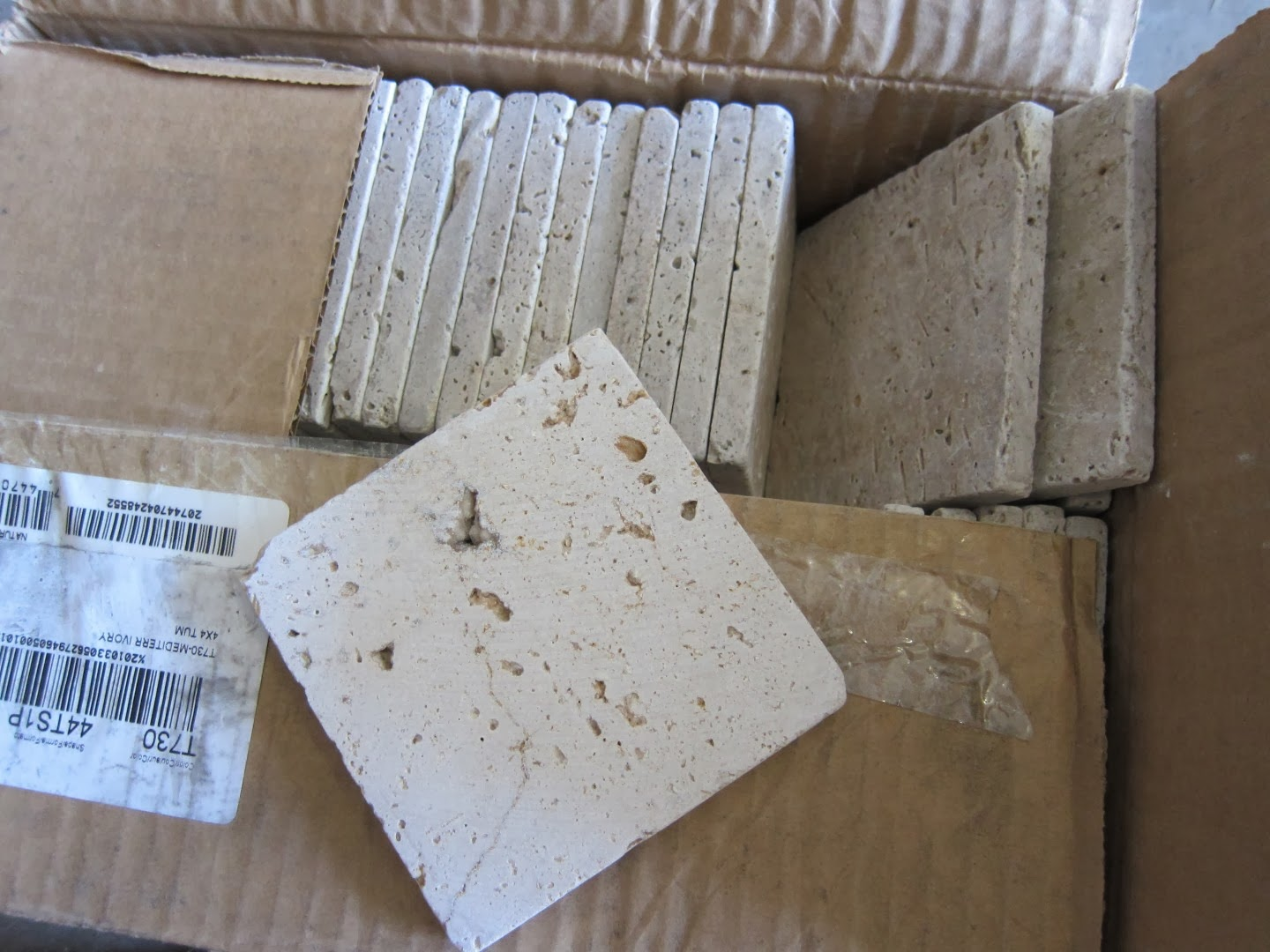 travertine tile, auction, cheap