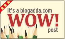 """Won """"WOW Badge"""" from Blogadda"""
