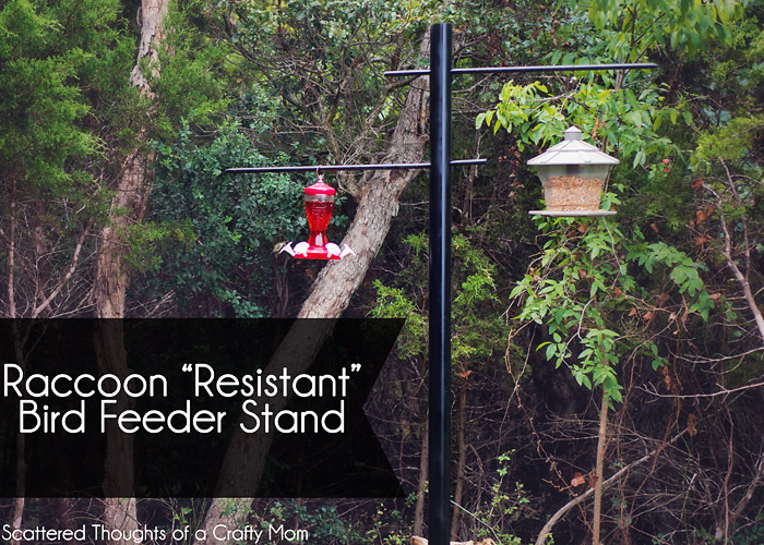 How To Make A Raccoon Quot Resistant Quot Bird Feeder Stand