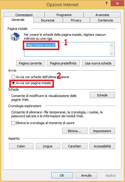 Come eliminare Delta Homes da Internet Explorer