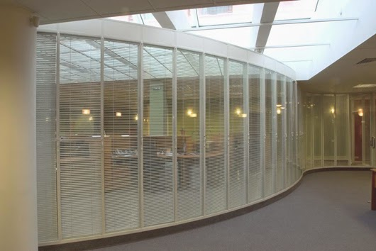 Blinds for office partitions