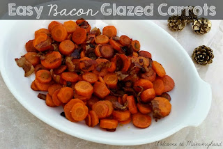 Easy Christmas recipes: Bacon glazed carrots {Welcome to Mommyhood} #paleo, #easychristmasrecipes, #easyhealthyrecipes