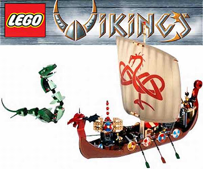 Ship set 7018 dragon longboat pirate treasure chest wolf head oars Technic Lego Viking accessories