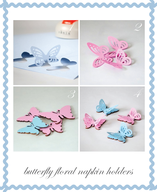 Butterfly Floral Napkin Holder step two by Torie Jayne