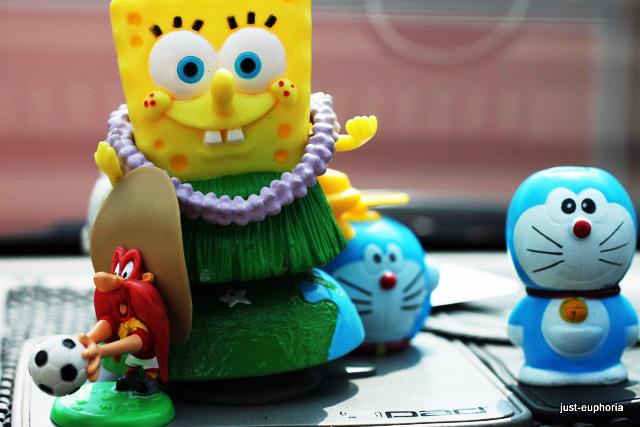 sponge bob and doraemon