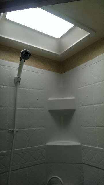 The sky lite in the bathroom in our RV