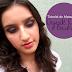 Tutorial de maquiagem: Degradê roxo e boca rosa