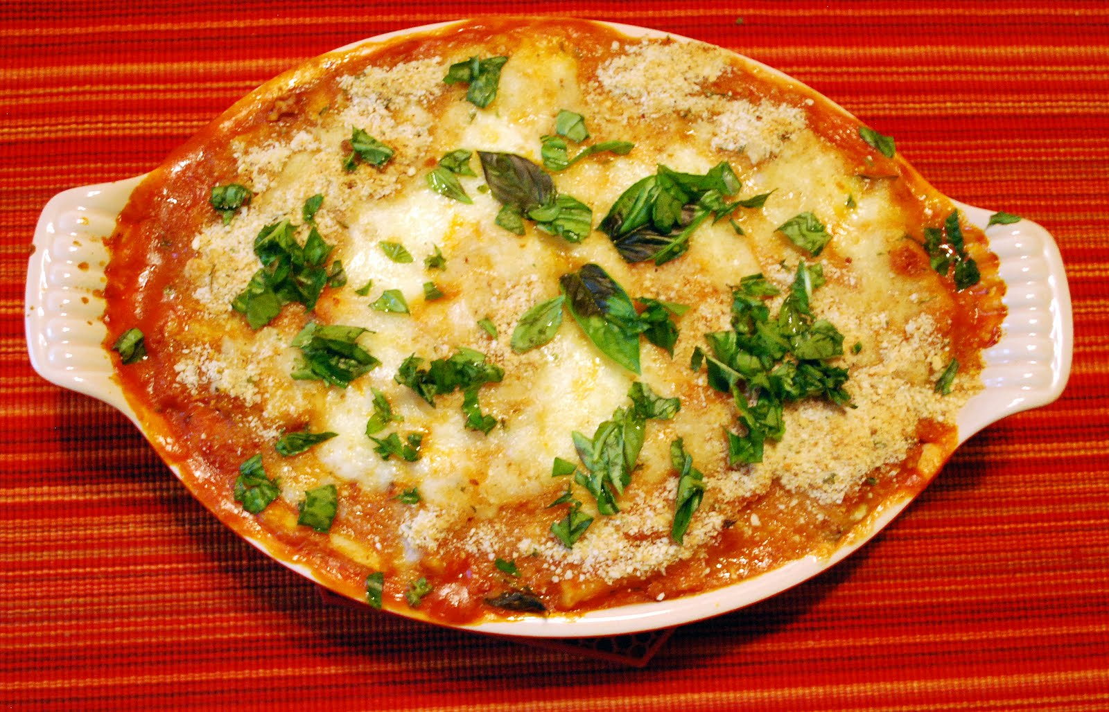 Mille Fiori Favoriti: Baked Gnocchi with Two Cheeses and Walnuts and a ...