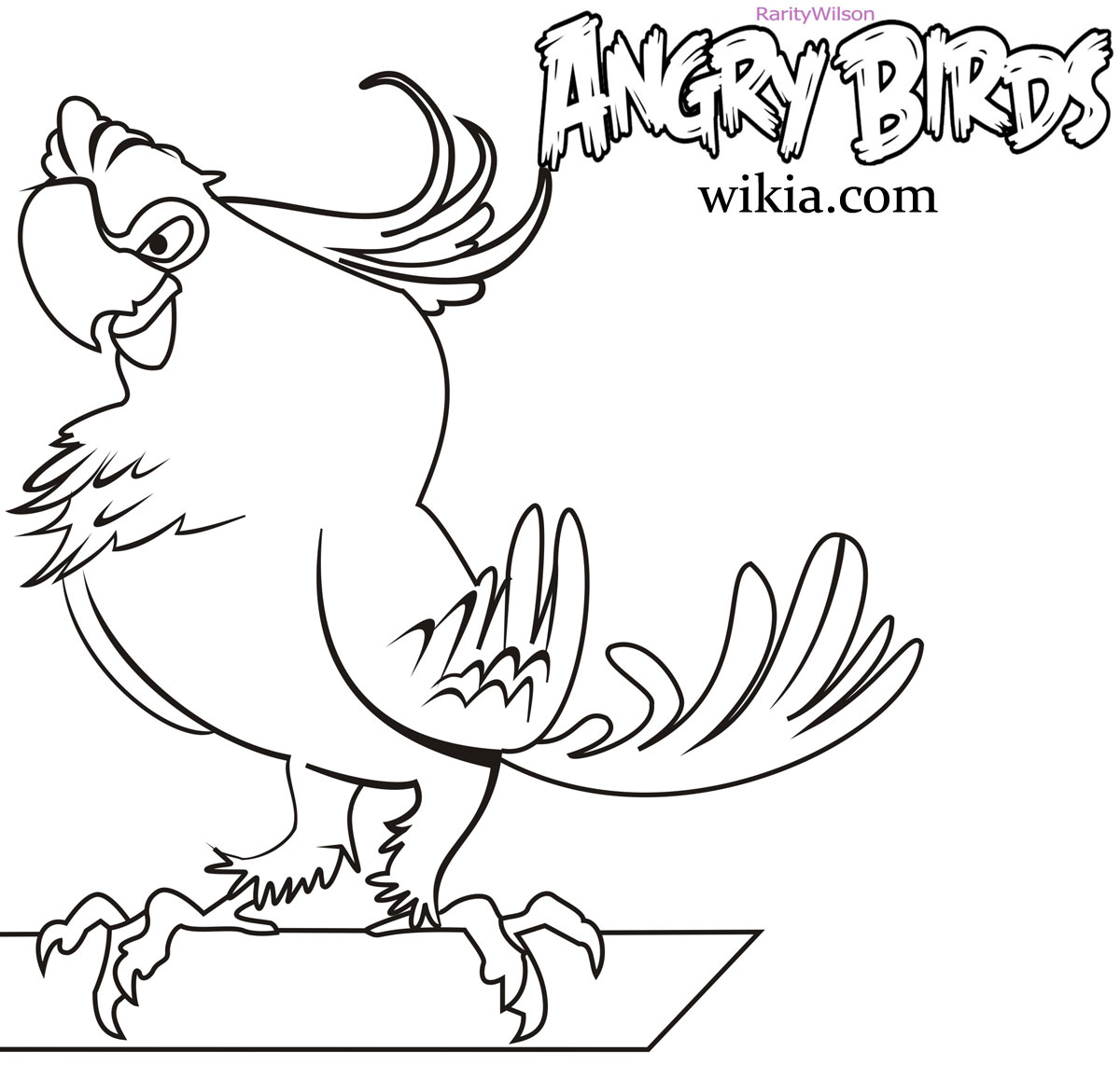 High Quality Angry Birds Rio Coloring Pages