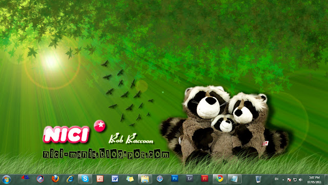 1360x768 wallpaper. NICI Raccoon wallpaper