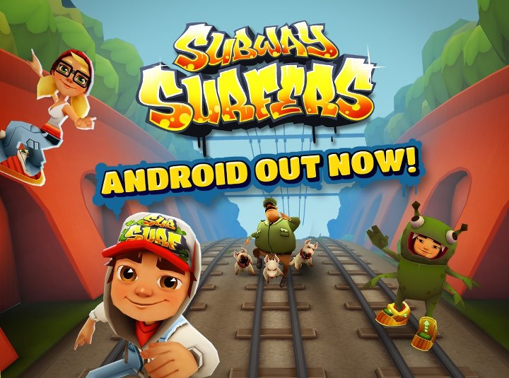 Subway Surfers is a free running game which takes place on the rails