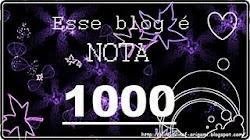 Selinho nota 1000