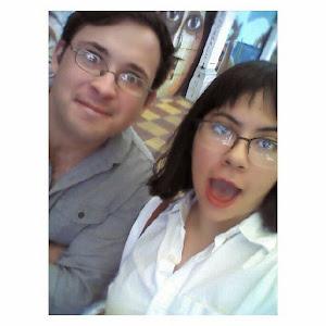 Con mi prima Arantxa Ochoa, excelente cuentista.