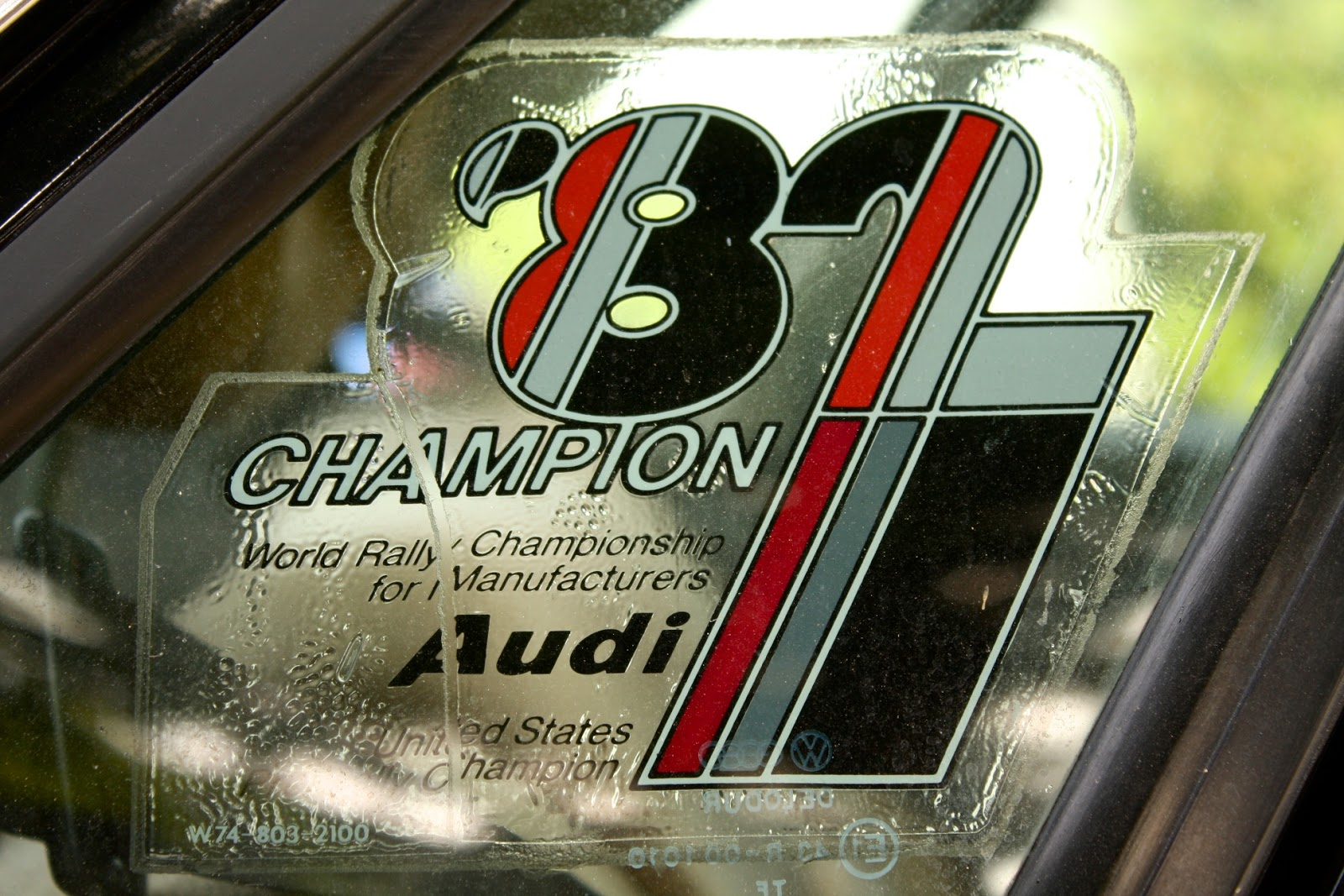 Audi 1982 World Rally Champion sticker