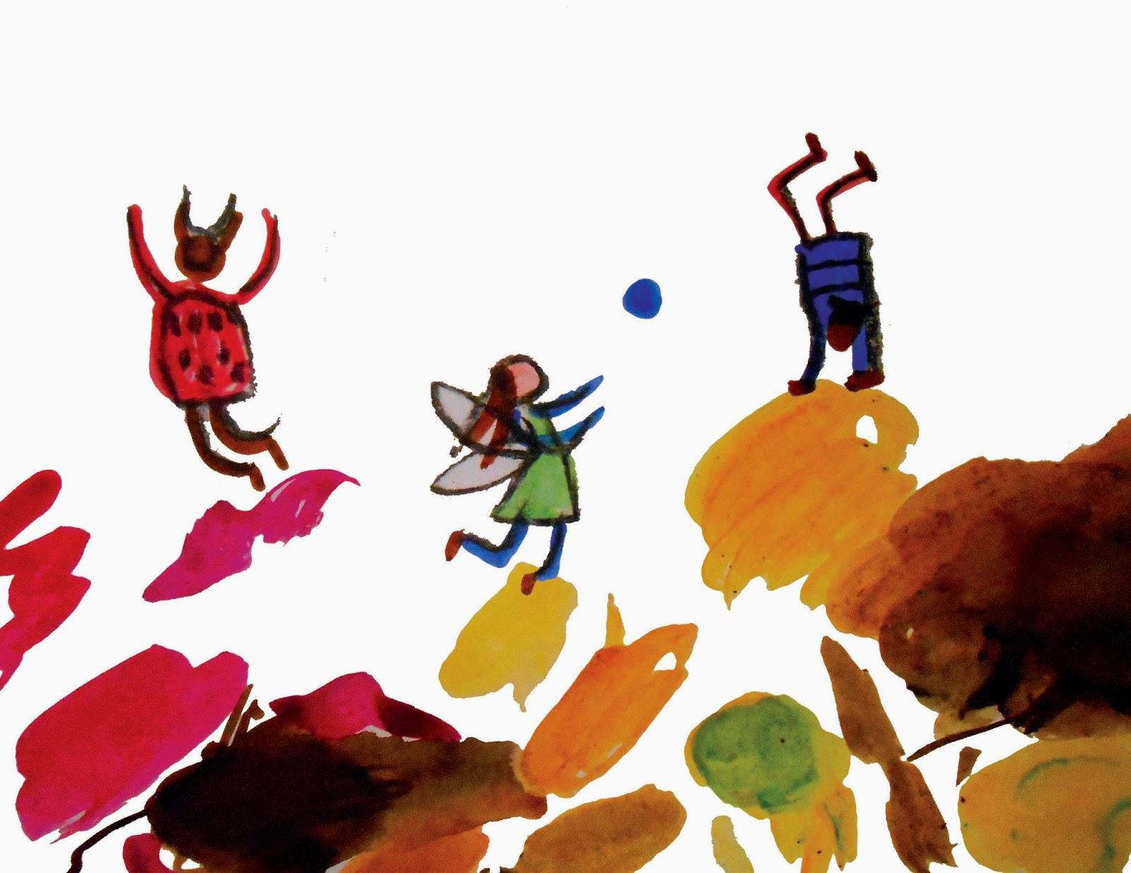 illustration jeunesse enfants encre