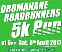 5k race nr Mallow in Cork...Sat 8th Apr 2017