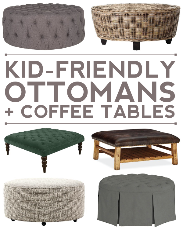 Stunning  kid friendly ottoman coffee table options for your living room