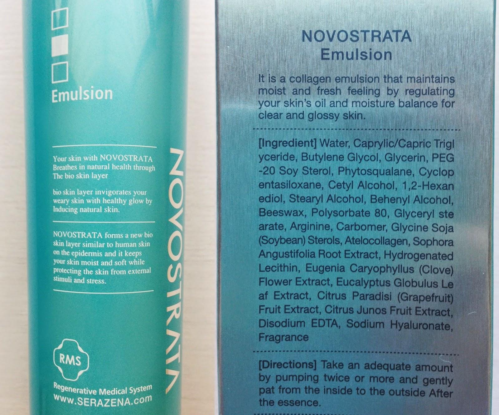 emulsión, Novostrata, colágeno, Violeta Botánica, blog, blogger