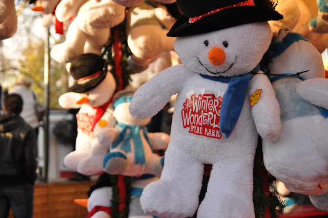 Winter Wonderland Hyde Park snowman soft toy