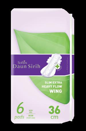 Softex Daun Sirih Extra Heavy Flow 6