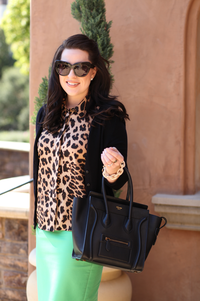 le-tote-leopard-blouse-celine-bag-mrs-robinson-mint-green-jcrew-skirt-king-and-kind-blog-san-diego-style-blogger