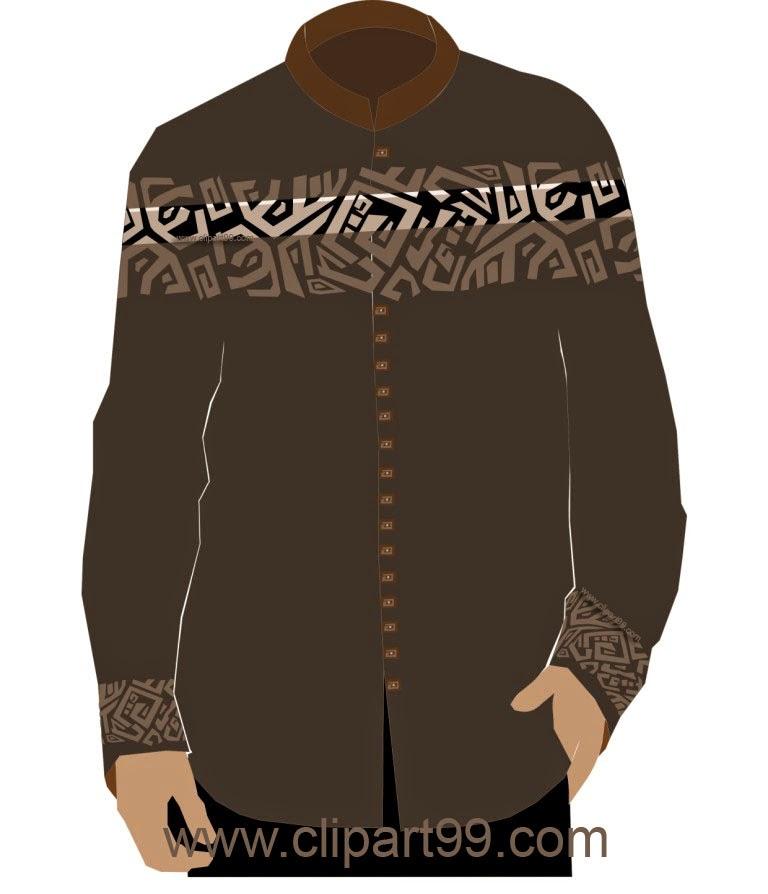 ide,baju koko,motif,bordir,etnik,abstrak,untuk badan kurus
