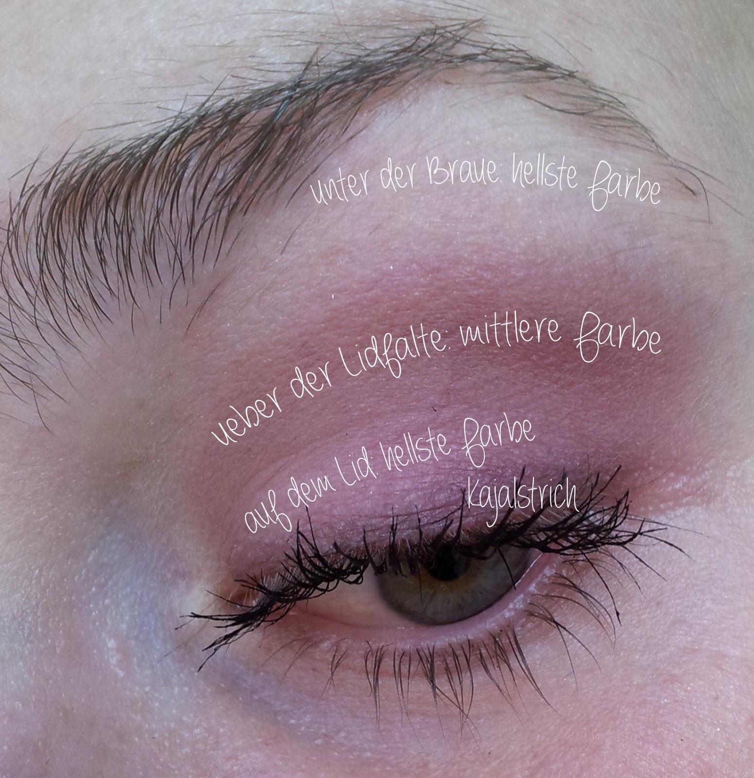 Schminken für Anfänger: dreiteiliges Augen-Make-up