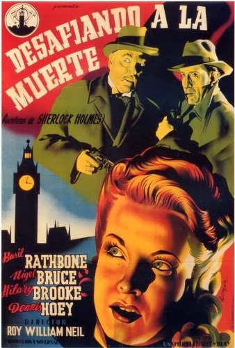 Sherlock Holmes Faces Death French Film Poster