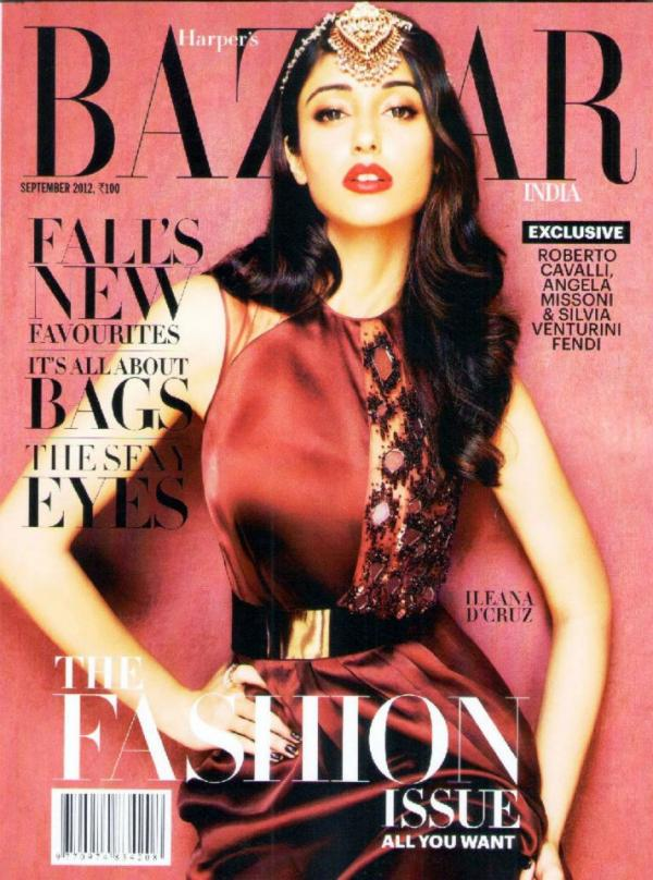Cover Girls: Ileana D'Cruz on Harper's Bazaar India