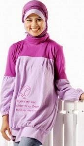 Contoh Baju Muslim Kaos