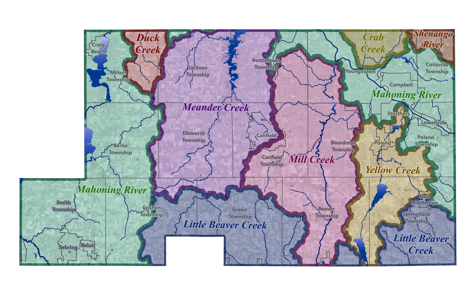 watersheds in mahoning county