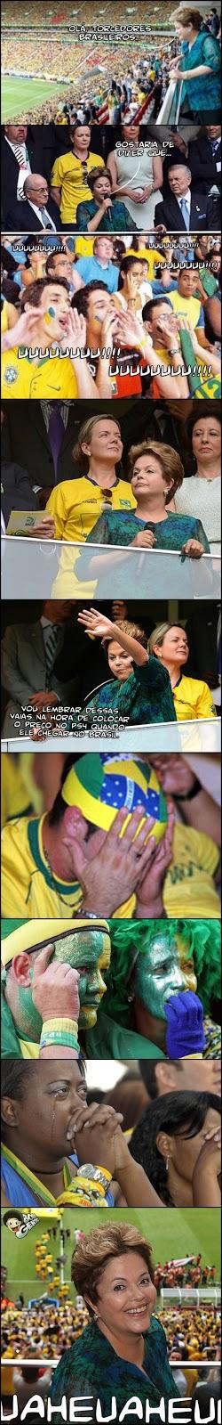 Dilma é vaiada na abertura da Copa das Confederações