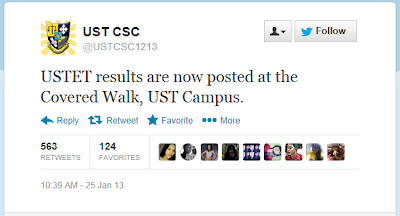 USTET Results now out!