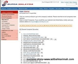 success story premium beautiful dan kejayaan Hai-O tersenarai dalam main board BSKL