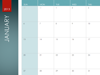 2013 Calendar template