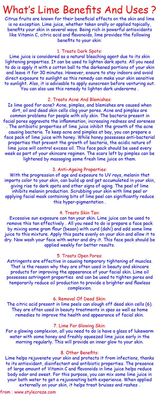 Lime benefits and uses