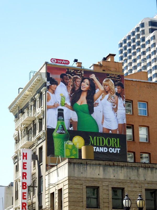 Kim Kardashian Midori billboard