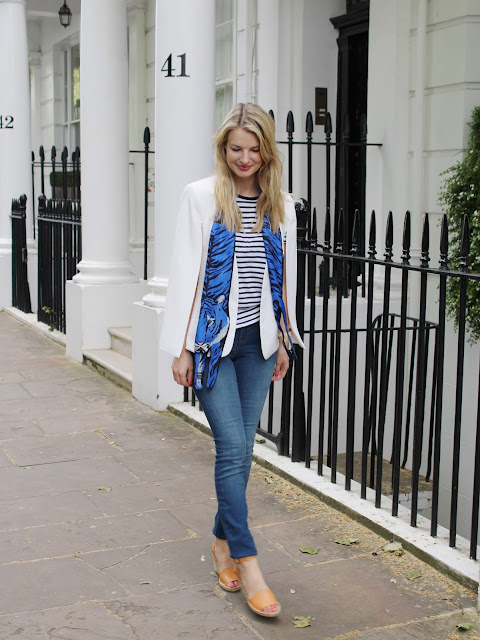 London street style, donna ida skinny jeans, wedge heels